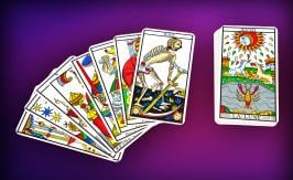 The 22 major arcana of the tarot