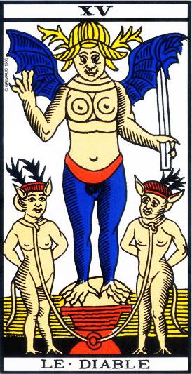 The Devil - Tarot of Marseille