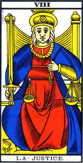 The Justice - Tarot of Marseille